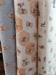 Winnie the Pooh fabric!