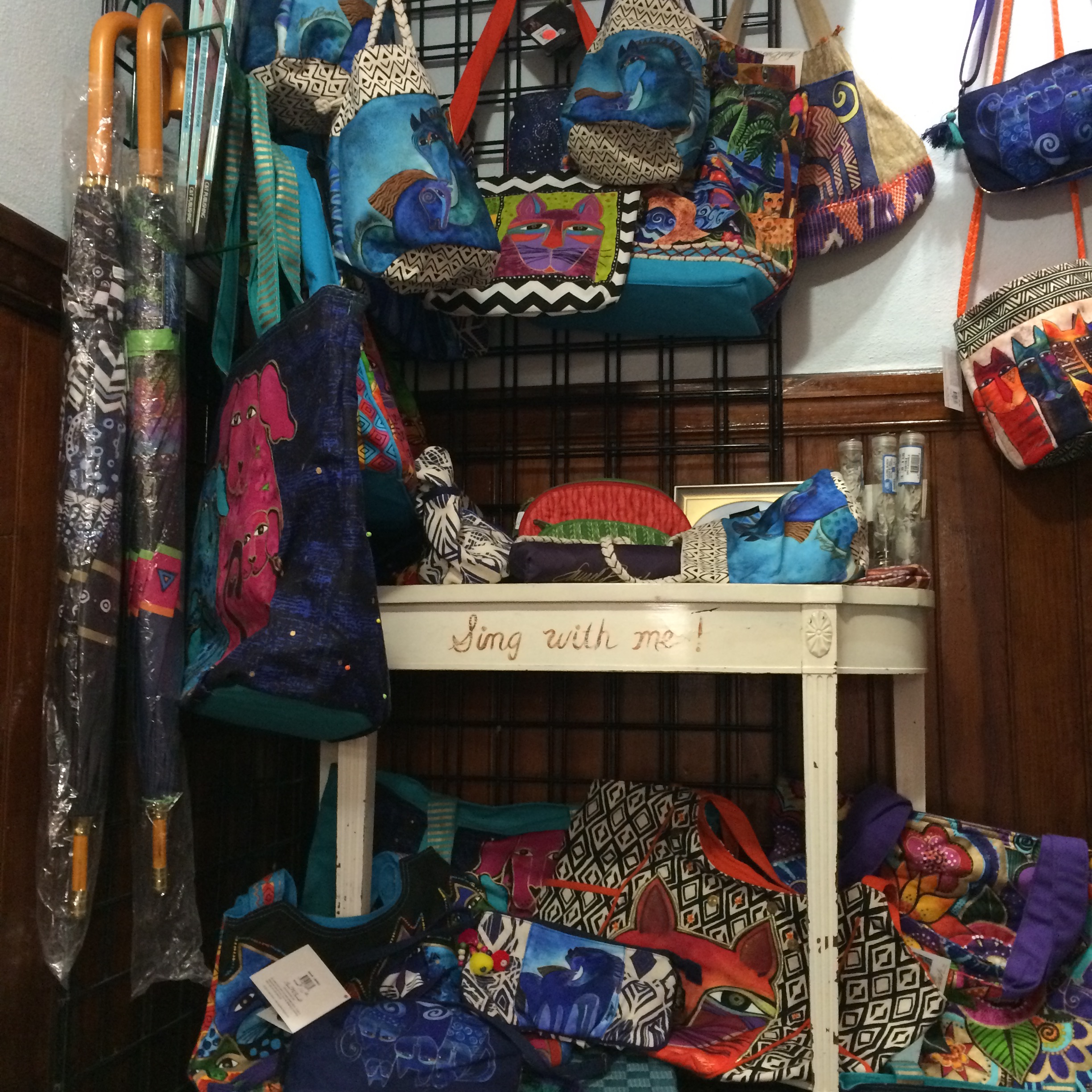 New Laurel Burch bags in the store!